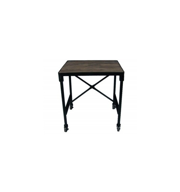 table basse bout de canap industriel en bois et m tal martel. Black Bedroom Furniture Sets. Home Design Ideas