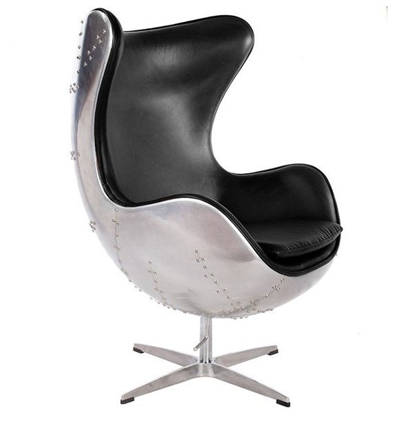 fauteuil oeuf jacobsen metal - Fauteuil Oeuf