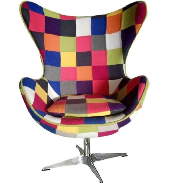 fauteuil egg chair jacobsen patchwork - Fauteuil Oeuf