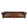 CANAPE CHESTERFIELD cuir marron
