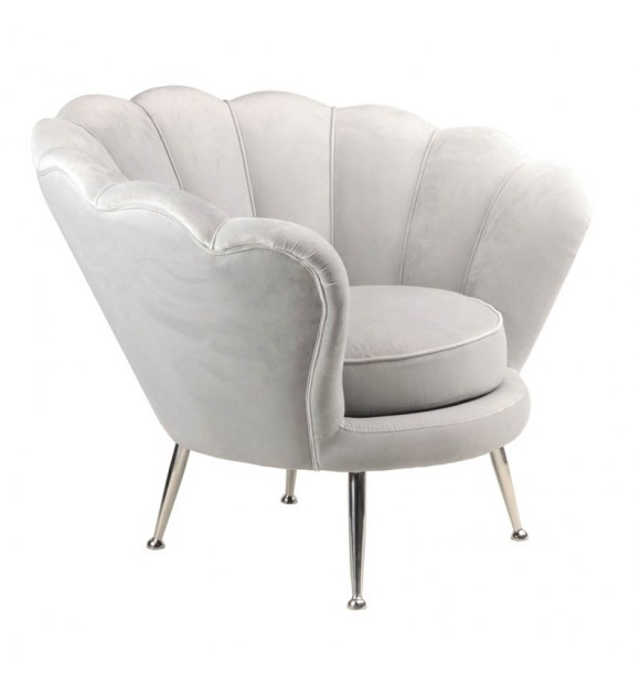Fauteuil velours gris Gasby