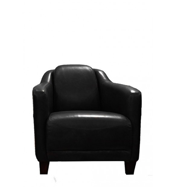 fauteuil london cuir noir vintage de style anglais. Black Bedroom Furniture Sets. Home Design Ideas