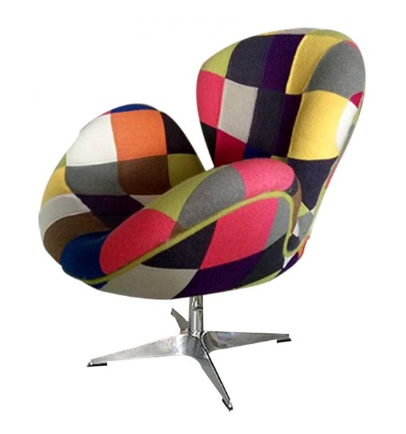 FAUTEUIL cygne patchwork