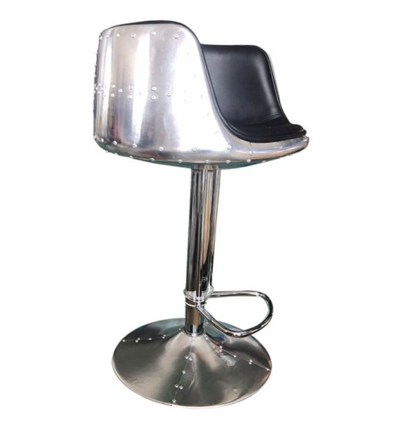 Tabouret bar aviateur noir
