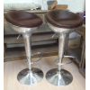 TABOURET DE BAR AVIATEUR MARRON VINTAGE