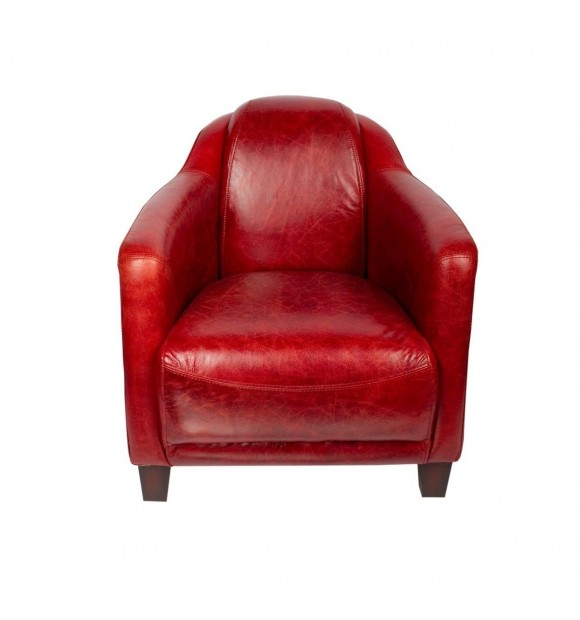 FAUTEUIL CLUB cuir rouge