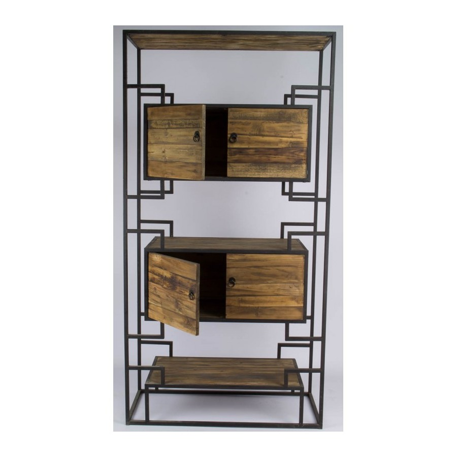 etagere industrielle bois metal industrial shelving for