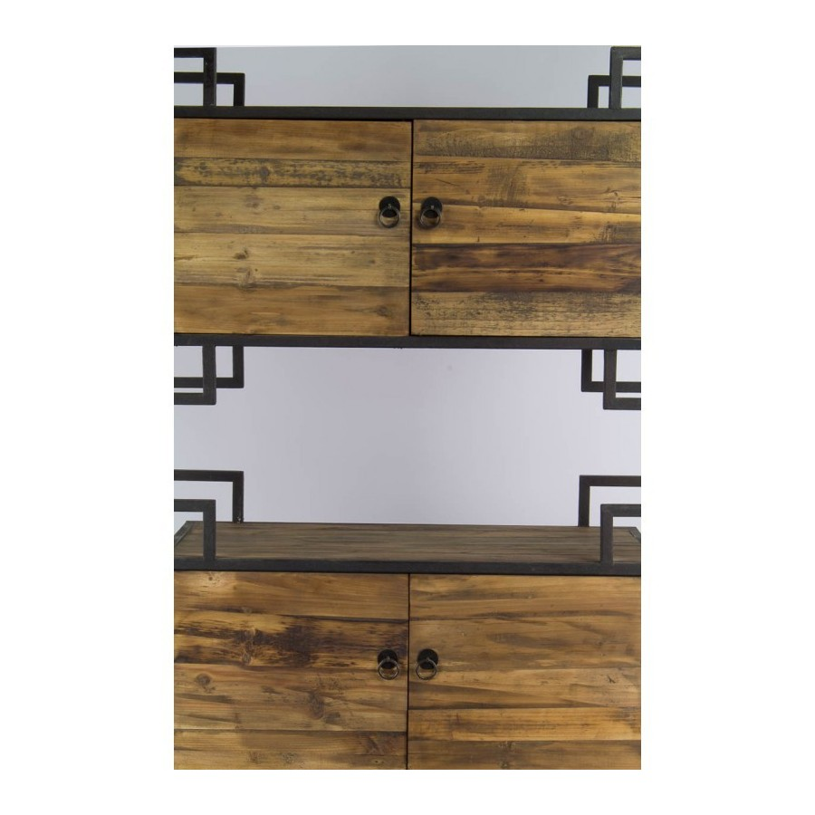 etagere industrielle bois metal wood and metal design wall shelf etag res biblith que bois et. Black Bedroom Furniture Sets. Home Design Ideas