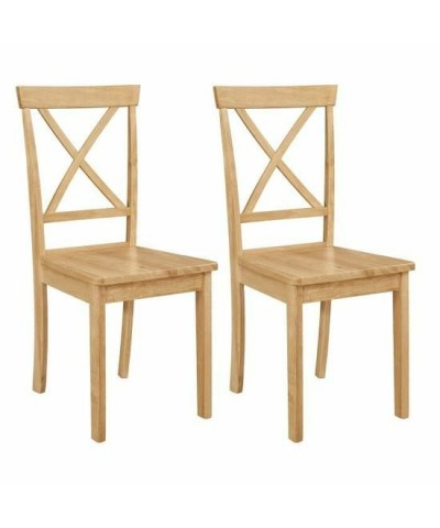 Chaises Orion en bois naturel lot de 2