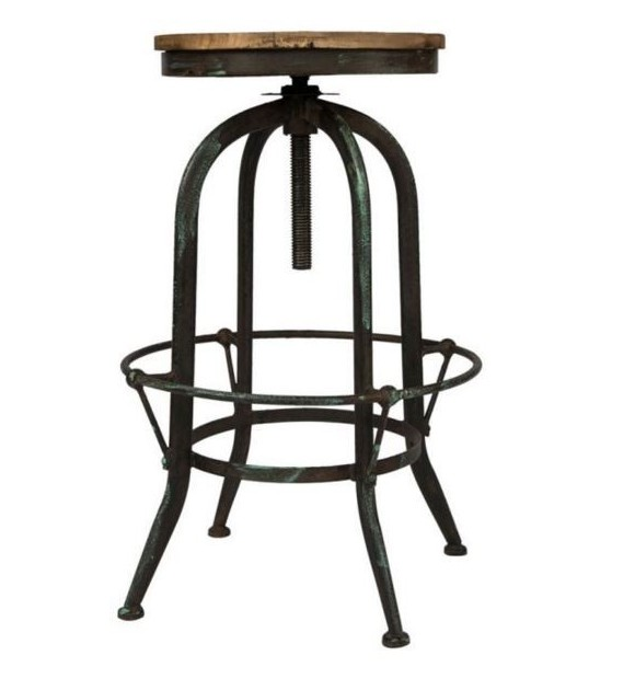 tabouret bar industriel bois et mtal - Tabouret De Bar Metal Industriel