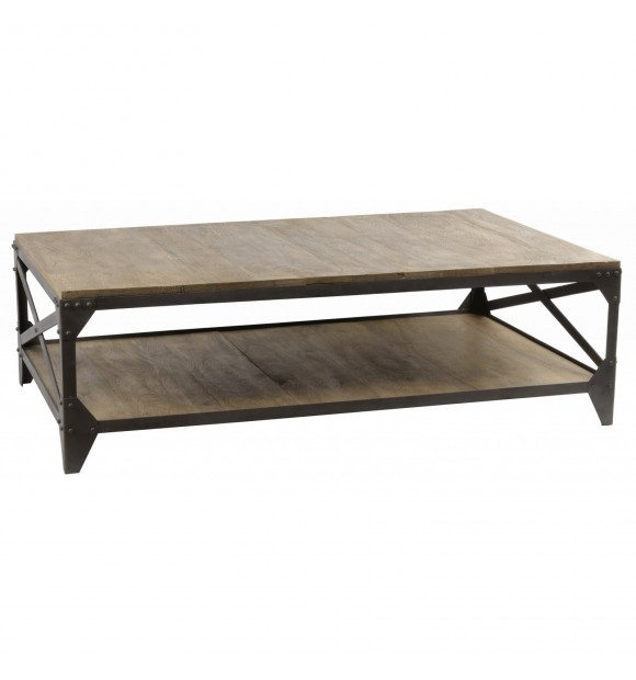 Table basse industrielle gris charbon