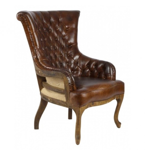 fauteuil chesterfield destroyer en cuir