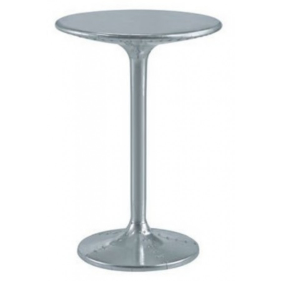 Table haute mange debout aviateur en m tal aluminium rivet for Table mange debout