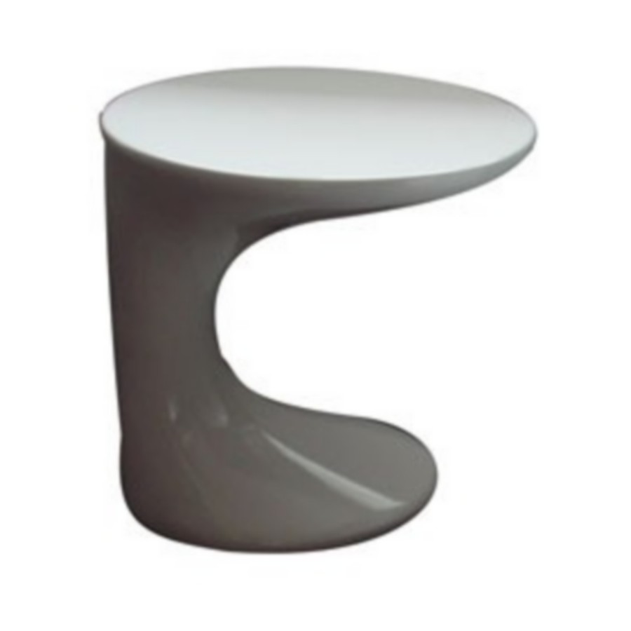 Table basse loft blanche en r sine avec peinture laqu e design for Table basse lack blanche