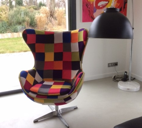 fauteuil cocoon patchwork