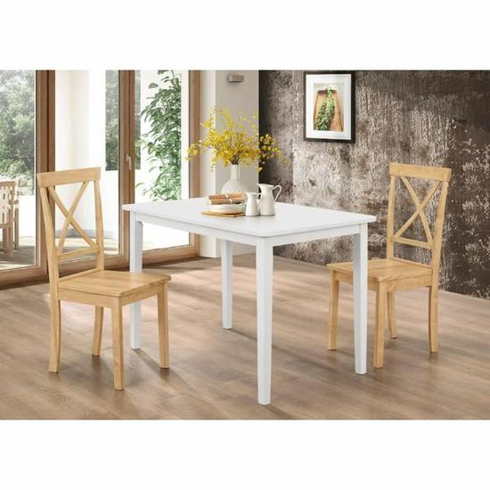 lot de 2 chaises orion en bois naturel